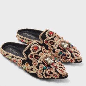 Jeffrey Campbell Shoes - Jeffrey Campbell Sarika Beaded Slides Mules